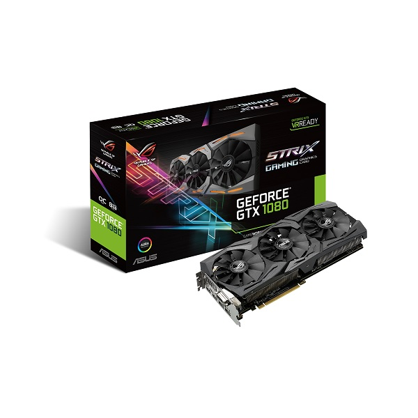 ASUS STRIX-GTX1080-O8G-GAMING GeForce GTX 1080 PCIE Graphics Card [90YV09M0-M0NA00]
