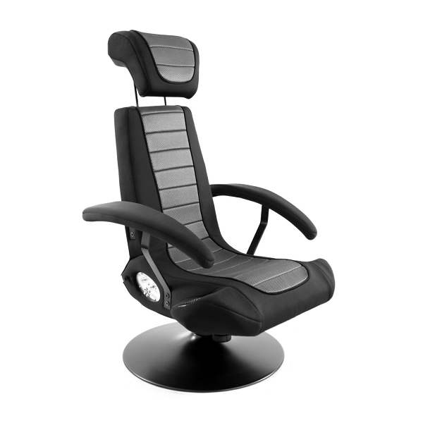 Boomchair Black & Grey Stealth AV Sound & Vibration Chair