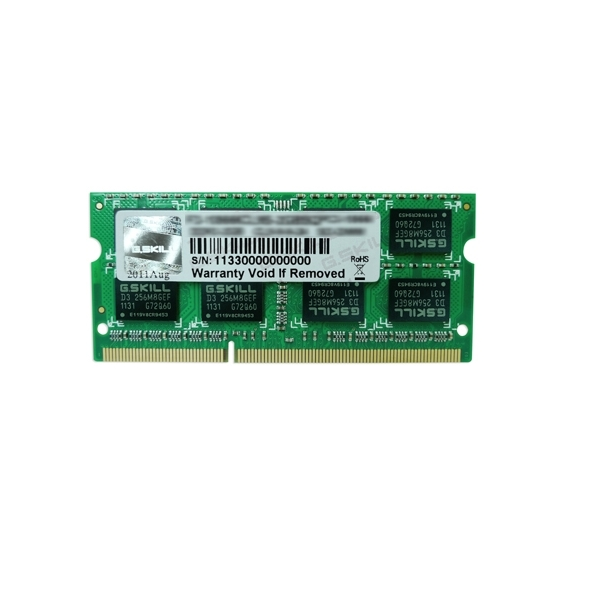G.Skill DDR3-1600 8GB Single Channel SODIMM [SQ] F3-1600C10S-8GSQ