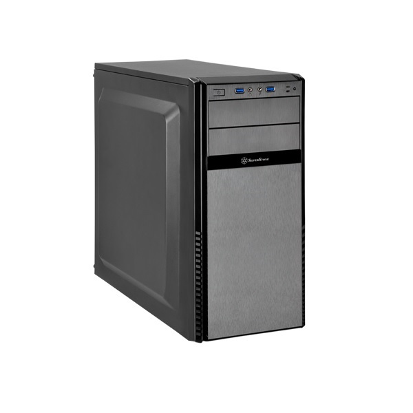 SilverStone Black Precision PS11 Q Mid Tower Chassis (USB3 & Padded Side Panels)