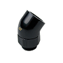 "Swiftech Black 45 Degree Swivel Elbow Brass Lok-Seal G1/4"" Adapter"