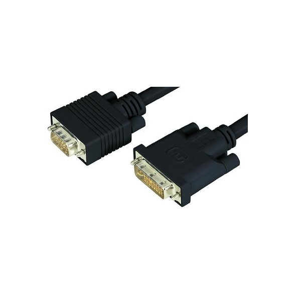 2m DVI-A Male To HD15 15Pin Male VGA Video Adapter Cable WW-AV-DVIA-VGA2M